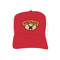 Deer Head Trucker Red