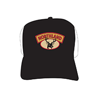 Deer Head Trucker Black